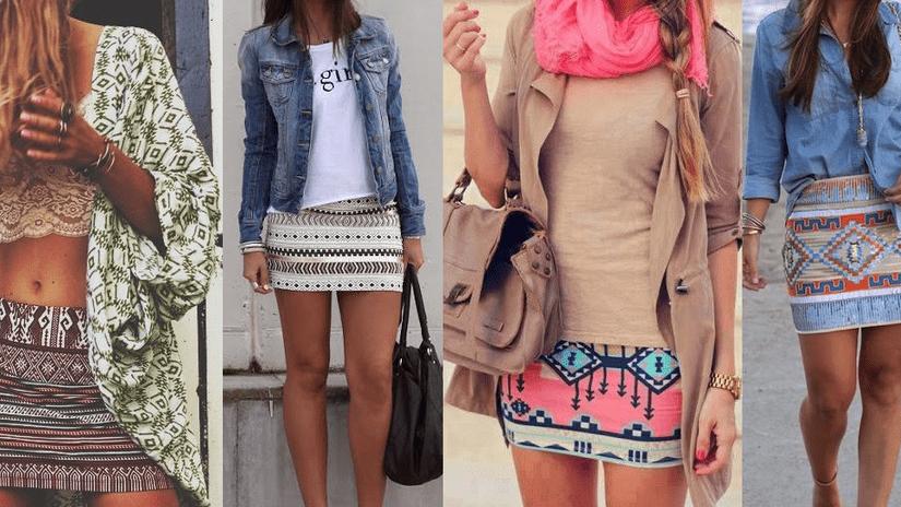 Estampados étnicos de moda
