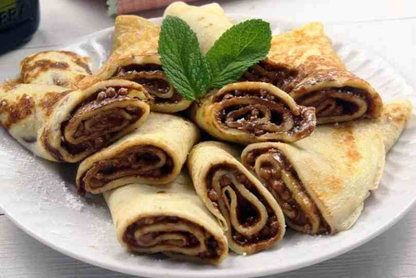 Crepes de chocolate puro