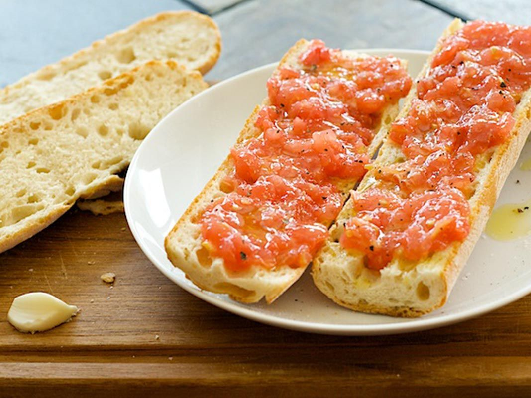 Pan tostado a la catalana