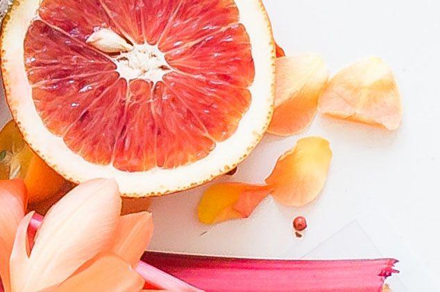 Pomelos marinados con miel