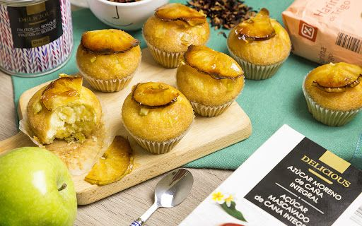 Magdalenas de manzana y limón