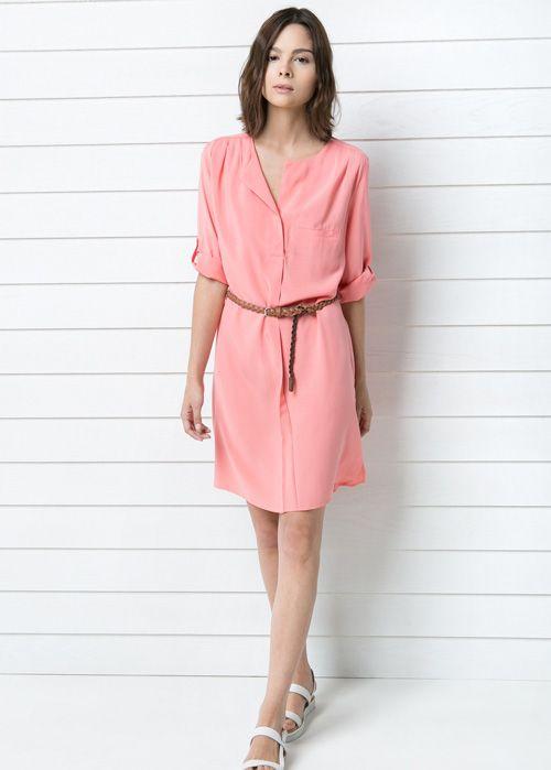 Vestido rosa de Mango