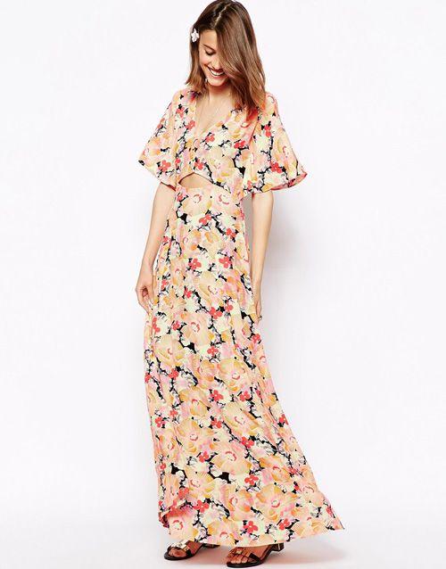 vestido floral asos
